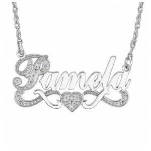 Diamond Name Necklace 86634