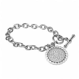Medical and Health Alert Hearts Bracelet 26mm