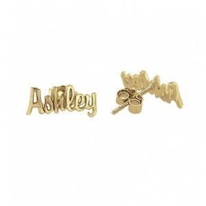 Mini Script Name Earrings