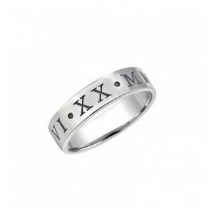 Roman Numeral Couple Ring 4.8mm