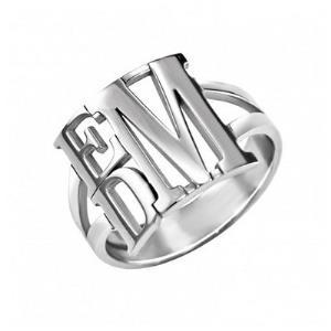 Stacked Monogram Ring 13mm