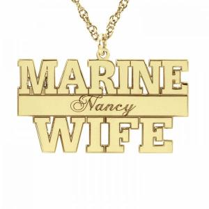 Marine Personalized Pendant 16x29mm
