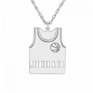 Basketball Jersey Pendant 23x17mm
