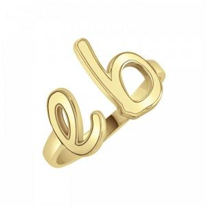Lowercase Double Initial Ring 10mm