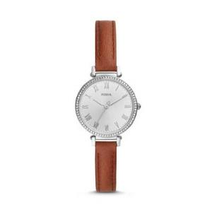 Kinsey Three-Hand Brown Leather Watch