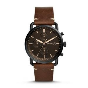 The Commuter Chronograph Brown Leather Watch