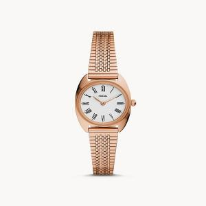 Jude Mini Two-Hand Rose Gold-Tone Stainless Steel Watch
