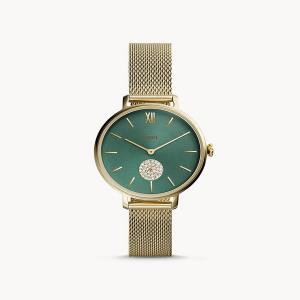 Kalya Three-Hand Gold-Tone Stainless Steel Watch