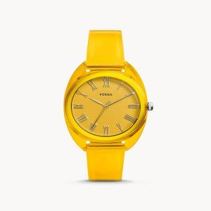 Jude Three-Hand Yellow Silicone Watch