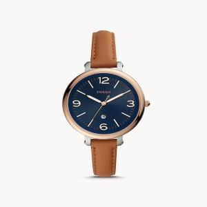 Monroe Three-Hand Date Brown Luggage Watch