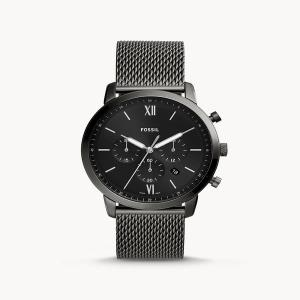 Neutra Chronograph Smoke Stainless Steel Mesh Watch