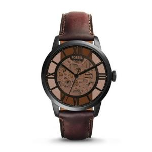 Townsman Automatic Dark Brown Leather Watch