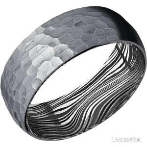 8 mm wide Domed Tantalum band featuring a Marble sleeve.