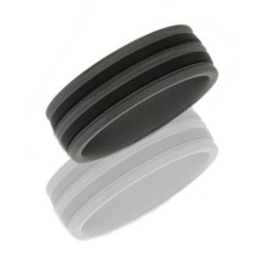 Tungsten and Ceramic 8mm Band.