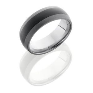 Ceramic and Tungsten 8mm Domed Band