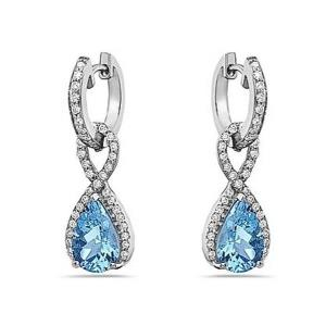 14KT Diamond 0.42 CTW Aquamarine 2.32 CTW