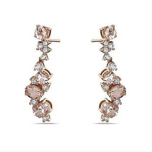 14KT Diamond 0.49 CTW Morganite 5.32 CTW