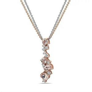 14KT Diamond 0.25 CTW Morganite 2.66 CTW