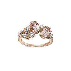 14KT Diamond 0.07 CTW Morganite 2.11 CTW