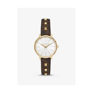 Mini Pyper Gold-Tone and Studded Watch