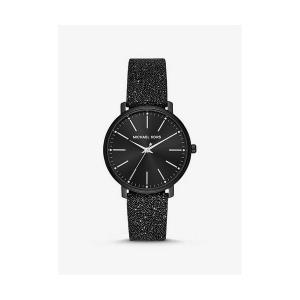 Pyper Black-Tone Swarovski® Crystal Embellished Watch