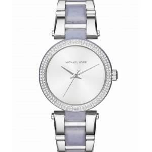 Delray Pave Silver-Tone and Acetate Watch