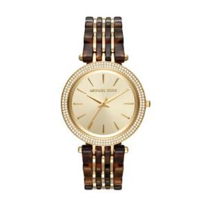 Darci Pave Gold-Tone and Acetate Watch
