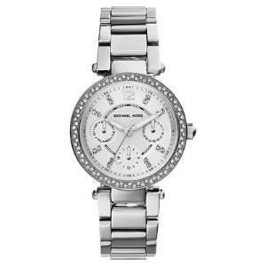 Parker Pave Silver-Tone Watch
