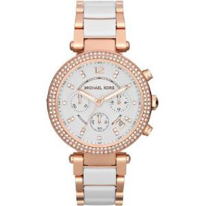 Parker Rose Gold-Tone White Acetate Watch