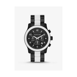 Oversized Runway Black-Tone and Silicone Watch