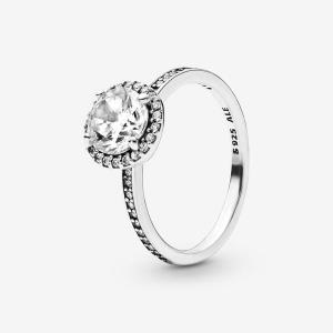 Round Sparkle Halo Ring