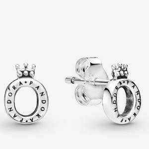 Polished Crown O Stud Earrings