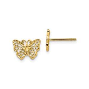 14K Butterfly Post Earrings