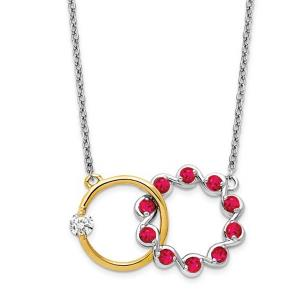 14k TT Ruby and Diamond Necklace