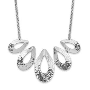 Sterling Silver Rhodium-plated D/C with 1in ext. Necklace