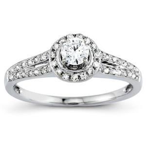 14k WG Engagement Ring