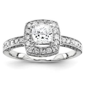 14k White Gold Semi Mount Diamond Engagement Ring