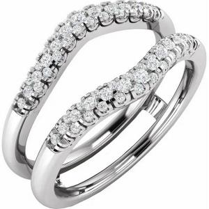 14K White 1/4 CTW Diamond Ring Guard