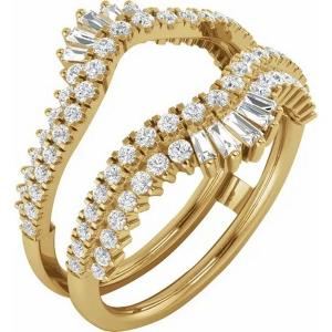 14K Yellow 1 CTW Diamond Ring Guard