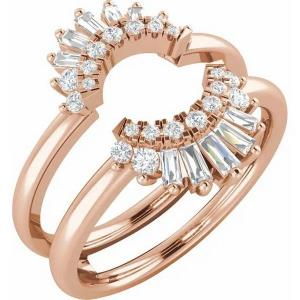 14K Rose 1/2 CTW Diamond Ring Guard