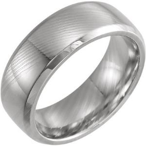 Damascus Steel 8 mm Comfort-Fit Band Size 10