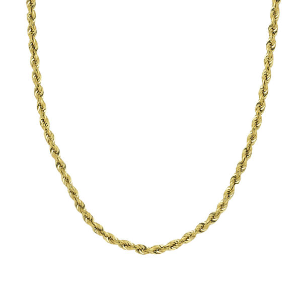 14K YELLOW GOLD DIAMOND-CUT ROPE CHAIN COLLECTION