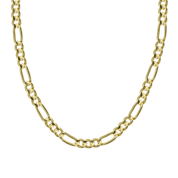 14K YELLOW GOLD FIGARO CHAIN COLLECTION