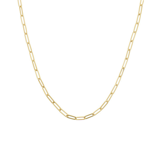14K YELLOW GOLD PAPER CLIP CHAIN COLLECTION