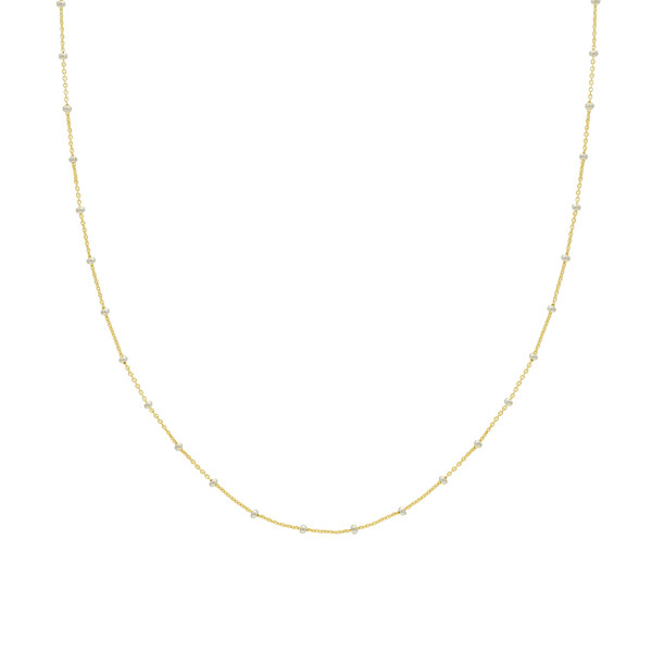 14K YELLOW GOLD SATURN CHAIN COLLECTION