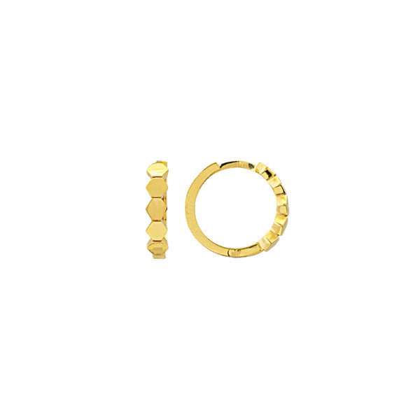 14K YELLOW GOLD MINI HUGGIE COLLECTION