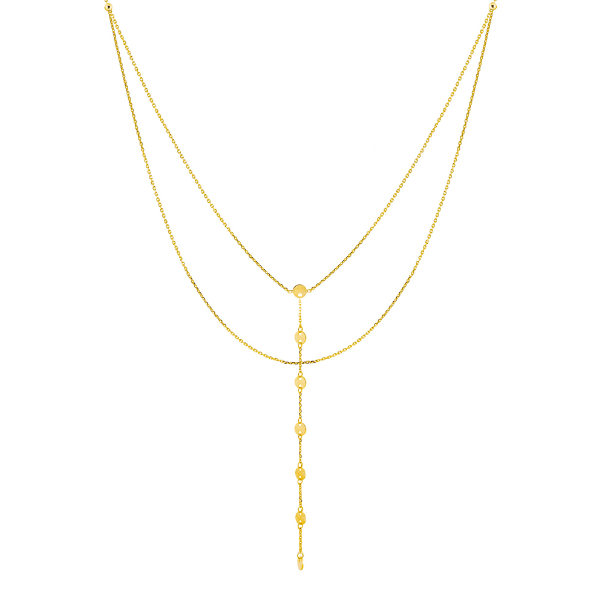 14K YELLOW GOLD LARIAT COLLECTION
