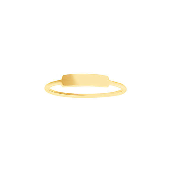 14K YELLOW ENGRAVABLE RING COLLECTION