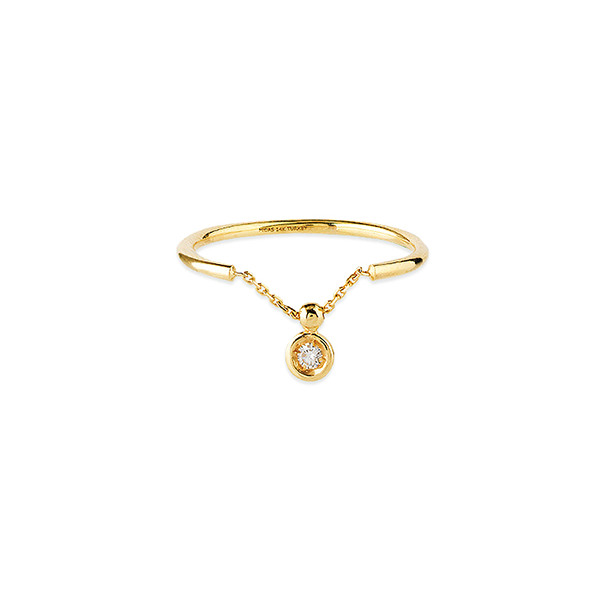 14K YELLOW GOLD CHAIN RING COLLECTION